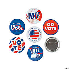 Patriotic Vote Buttons