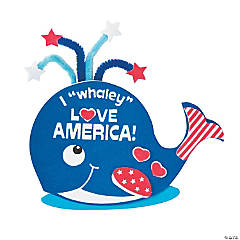 Patriotic Whale Magnet Craft Kit