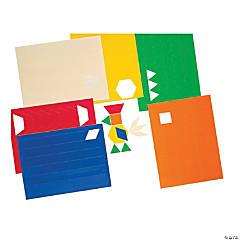 Pattern Blocks Stickers Sticker Pack, Set of 3 Packs