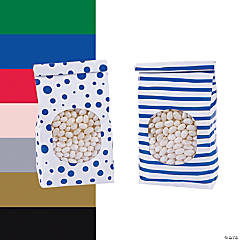 Patterned Tin Tie Treat Bags with Window