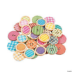 Patterned Wood Buttons