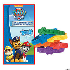 PAW Patrol™ Valentines with Scented Bookmarks & Paw Print Rubber Bracelets