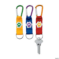 Paw Print Carabiner Keychains