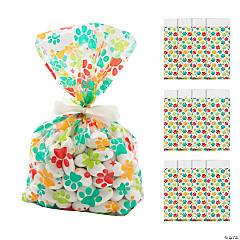 Paw Print Cellophane Bags