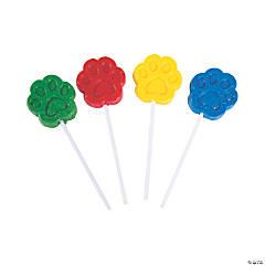 Paw Print Lollipops