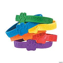 Paw Print Rubber Bracelets