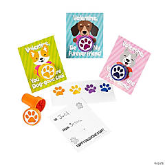 Paw Print Stampers with Valentine's Day Card