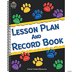 Paw Prints Lesson Plan and Record Book, Pack of 2 books