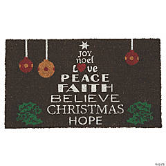 Peace Faith Believe Coir Mat