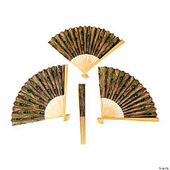 Peacock Folding Hand Fans