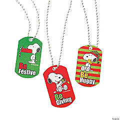 Peanuts® Christmas Dog Tag Necklaces