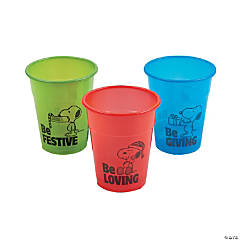 Peanuts® Christmas Plastic Cups