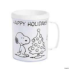 peanuts color your own christmas plastic mugs