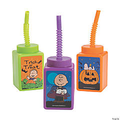 peanuts halloween cups with straws