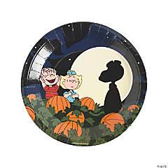 peanuts halloween paper dinner plates