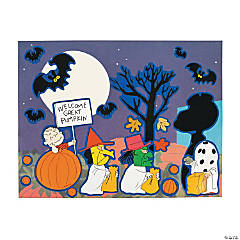 peanuts halloween sticker scenes