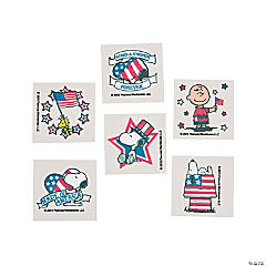 Peanuts® Patriotic Tattoos