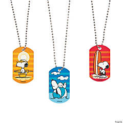 Peanuts® Summer Dog Tag Necklaces