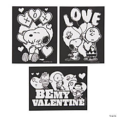 Peanuts<sup>®</sup> Color Your Own Fuzzy Valentine's Day Posters