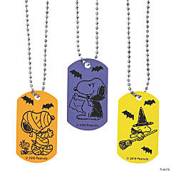 Peanuts<sup>®</sup> Halloween Dog Tag Necklaces