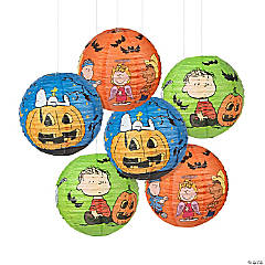 Peanuts<sup>®</sup> Hanging Paper Lanterns Halloween Decorations