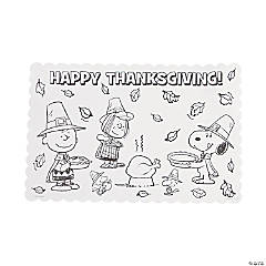 Peanuts® Color Your Own Thanksgiving Placemats