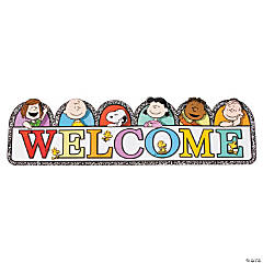 Peanuts® Multicolor Welcome Banner
