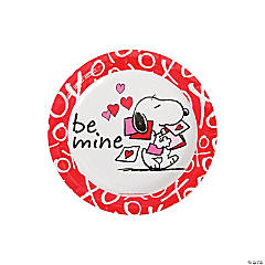 Peanuts® Valentine Paper Dessert Plates