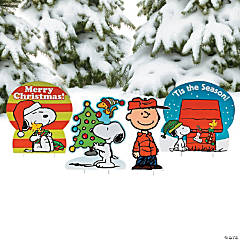 peanuts christmas yard signs