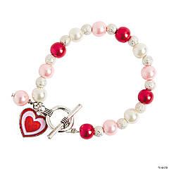 Pearl Dangle Heart Bracelet Craft Kit