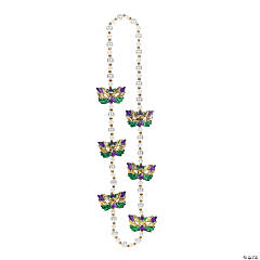 Pearlized Beaded Necklace with Masks