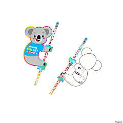 Pencils with Koala Valentine's Day Card