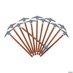 Pencils with Pickaxe Topper - 12 Pc.