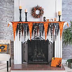 Pennant Mantel Scarf Halloween Décor