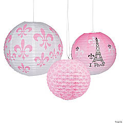 Perfectly Paris Paper Lanterns
