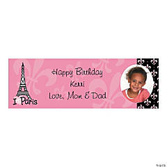 Perfectly Paris Party Photo Custom Banner - Small