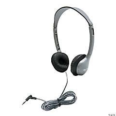Personal Stereo Mono Headphones - Yellow, Qty 3