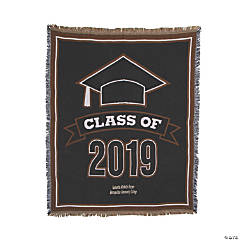 Personalized 2019 Graduation Throw