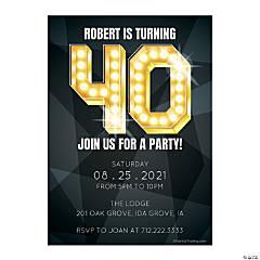 Personalized 40th Birthday Invitations