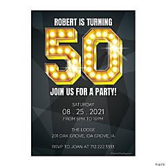 Personalized 50th Birthday Invitations