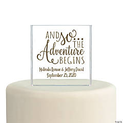 Personalized Adventure Begins Cake Topper