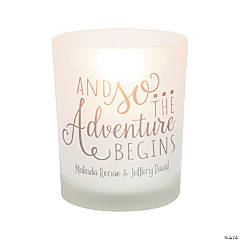 Personalized Adventure Wedding Votive Candle Holders