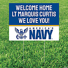 Personalized America's Navy® Yard Sign