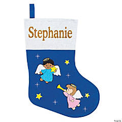 Personalized Angel Christmas Stocking
