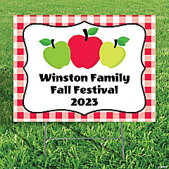 Personalized Apple Orchard Yard Sign
