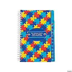 Personalized Autism Awareness Spiral Notebook & Pen Sets