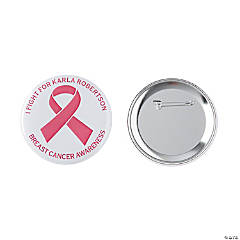 Personalized Awareness Ribbon Buttons