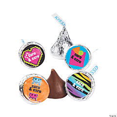 Personalized Awesome 80s Hershey's® Kisses® Stickers