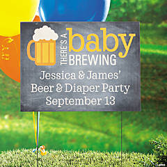 Personalized Baby Brewing Yard Sign