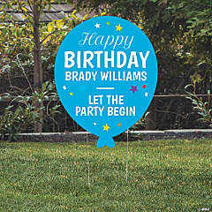 Personalized Balloon-Shaped Yard Sign